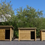 Select doghouses in 3 sizes