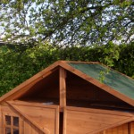 Hen house with loft