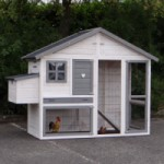 Chicken coop Holiday Medium white-grey with laying nest